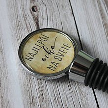 Iné - Zátka na vínko pre najlepšieho otca - 6853368_
