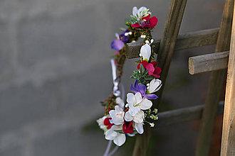 Ozdoby do vlasov - Kvetinový veselý venček \