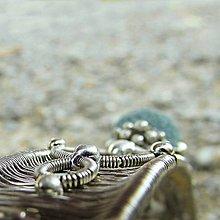 Ozdoby do vlasov - Spona s modrou lávou - 6859155_