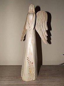 Socha - Drevený anjel - 6858602_