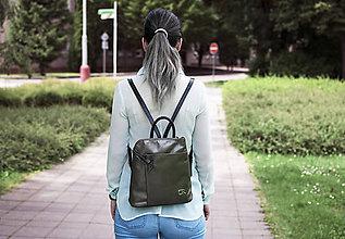 Batohy - Kožený ruksak Miriam \