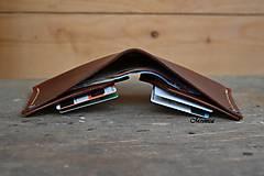 Peňaženky - Peňaženka dolárovka - karamelová - 6858022_
