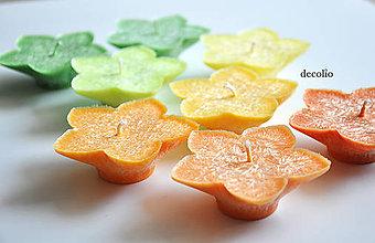 Svietidlá a sviečky - Citrusy - plávajúce sviečky 8ks - 6860586_