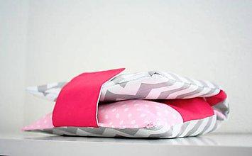Detské doplnky - Organizér pre mamičky 1, sivo - cyklamenový ( Obal na plienk - 6862622_