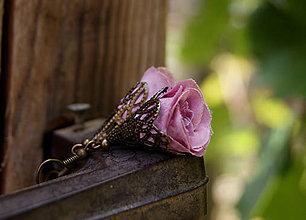Náušnice - Romantické lupene - 6861714_