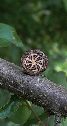 Materiál ručne robený - Kolovrat - drevená korálka - 6863066_