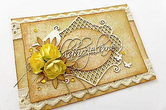 Papiernictvo - pohľadnica s ružami - 6868179_
