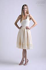 Šaty - Šaty Zsejke | prírodný materiál - 6867674_