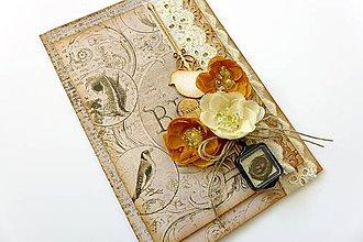 Papiernictvo - pohľadnica s vtáčikom - 6870981_