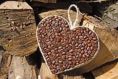 Dekorácie - Veľké srdce z kávy - 6878583_