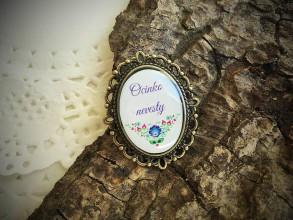 Darčeky pre svadobčanov - Brošnička na svadbu - Ocinko nevestičky - 6881632_