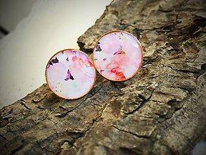 Šperky - Ružové manžetky v zlatom kove - 6881712_