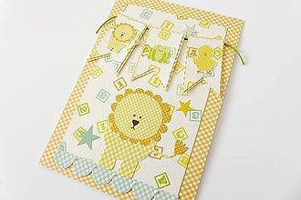 Papiernictvo - pohľadnica k narodeniu dieťatka - 6883233_