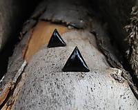 Náušnice - Čierne trojuholníky 10mm - 6887329_