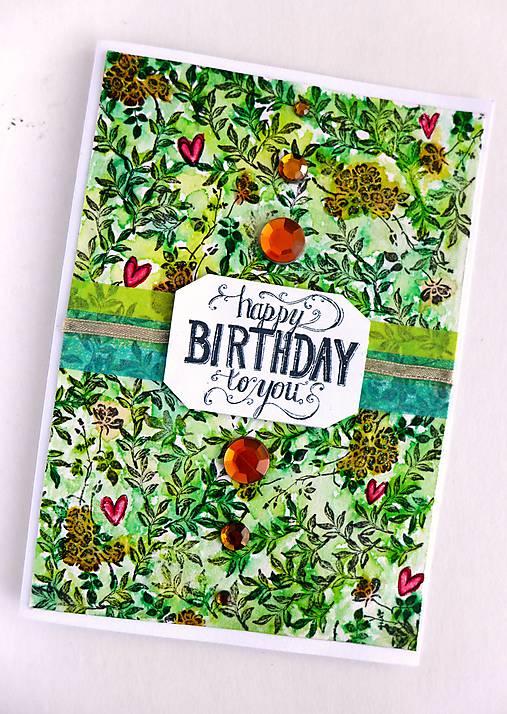Pohľadnica Happy Birthday To You