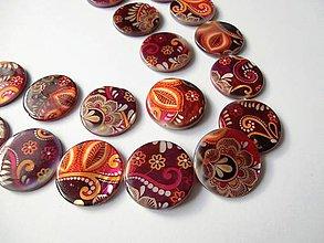 Korálky - Korálka kruh 25 mm - ornament - 6895104_