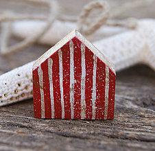 Odznaky/Brošne - Malý plážový domček - 6895579_
