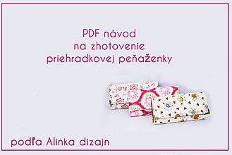 Návody a literatúra - Návod na zhotovenie priehradkovej peňaženky - 6896291_