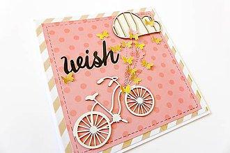 Papiernictvo - pohľadnica s bicyklom - 6896029_