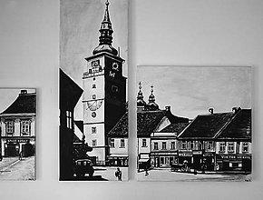 Obrazy - Maľba na plátne Trnava na 2 kusy - 6898045_