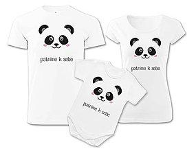 Detské oblečenie - Rodinné tričká PANDA - 6896087_