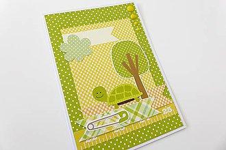 Papiernictvo - pohľadnica k narodeniu dieťatka - 6899037_