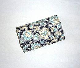 Peňaženky - Peňaženka - Kvety v noci. - 6903493_