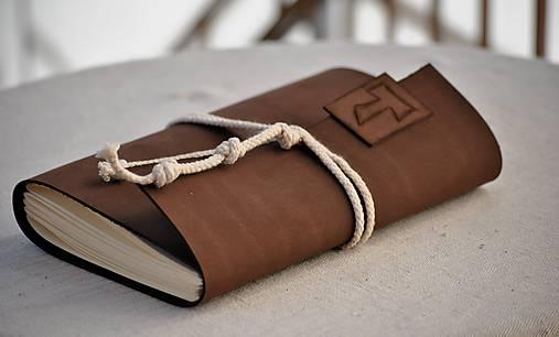 Papiernictvo - kožený zápisník OFM - 6909362_
